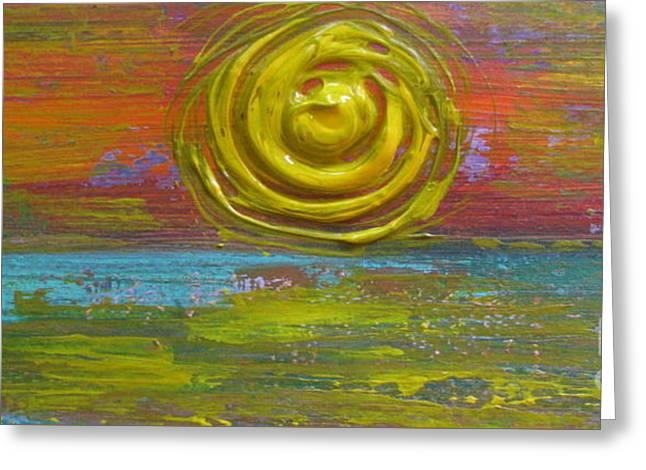 Sunrise Sunset 1 Greeting Card by Jacqueline Athmann