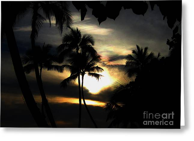 Sunrise Sunset Greeting Card by Cheryl Young