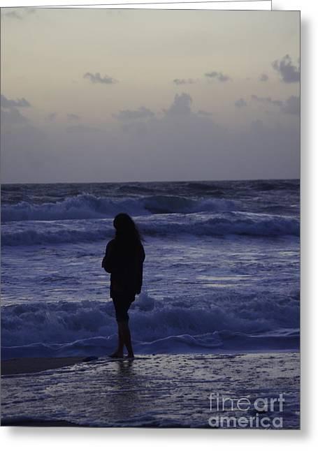 Sunrise Surf Greeting Card by Tannis  Baldwin