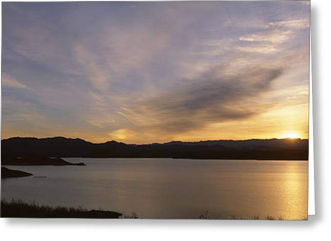 Sunrise Temple Bar Lake Mead Greeting Card by Panoramic Images