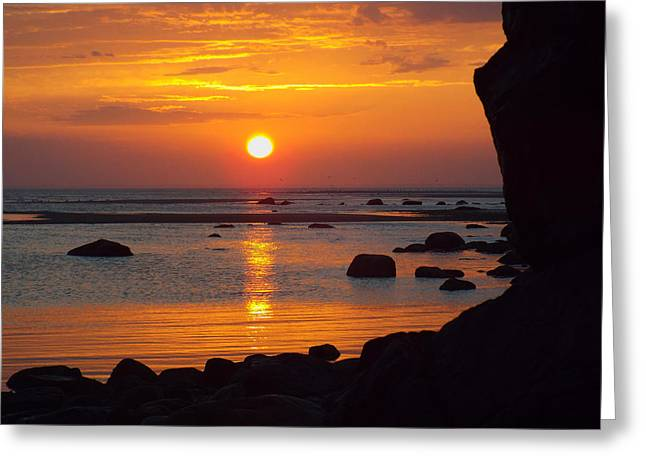 East Dennis Ma Greeting Cards - Sunrise Therapy Greeting Card by Dianne Cowen