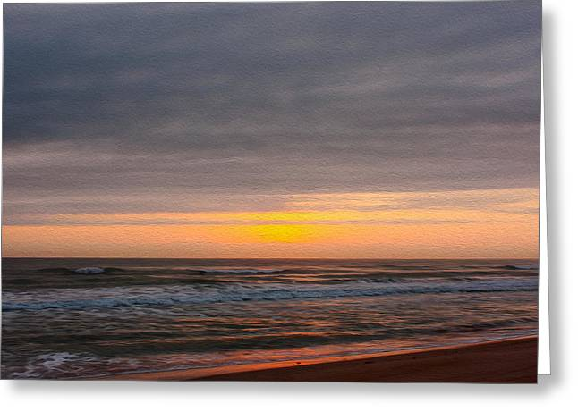 Recently Sold -  - Sand Patterns Greeting Cards - Sunrise Under the Clouds Greeting Card by John Bailey