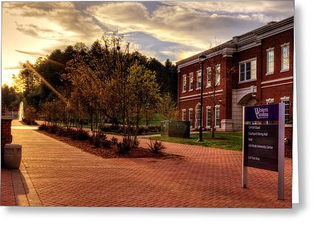 Wcu Greeting Cards - Sunrise Walk At Western Carolina University Greeting Card by Greg Mimbs