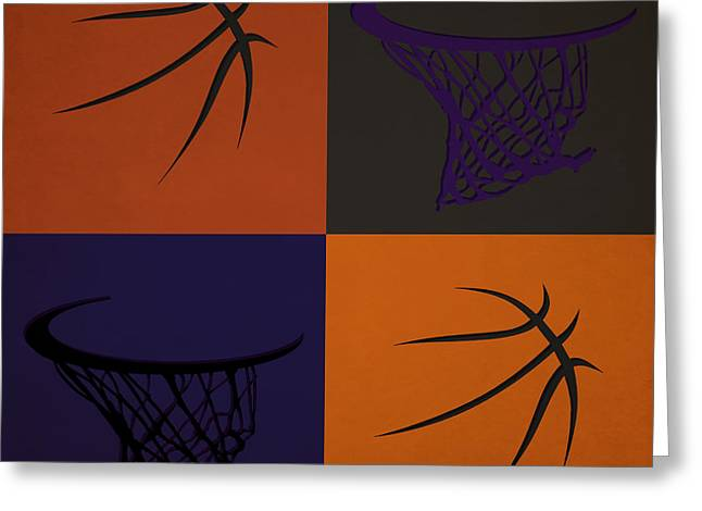 Suns Ball And Hoop Greeting Card by Joe Hamilton