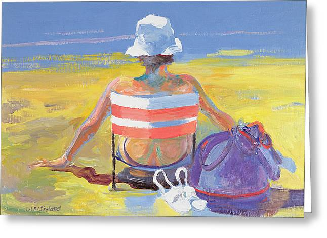 Sunbathing Photographs Greeting Cards - Sunseeker, 2005 Oil On Board Greeting Card by William Ireland