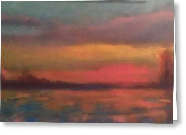 Sunset 2012 Greeting Card by Piotr Wolodkowicz