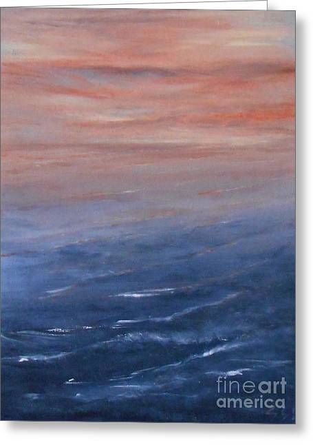 Jane See Art Greeting Cards - Sunset 3 Greeting Card by Jane  See