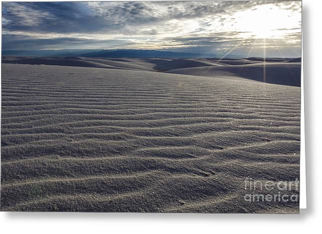Sunset 3 - White Sands Greeting Card by Scotts Scapes