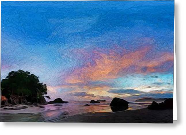 Abstract Beach Landscape Greeting Cards - Sunset 360 Greeting Card by Jason White