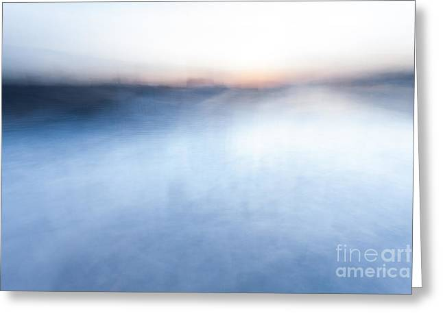 Sunset Abstract Greeting Cards - Sunset abstract Greeting Card by John Farnan
