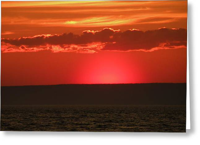 Sunset Across The Bay Of Fundy Greeting Card by Brian Chase