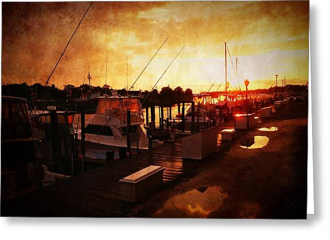 Cellphone Greeting Cards - Sunset after the rainstorm Greeting Card by Richard Reeve