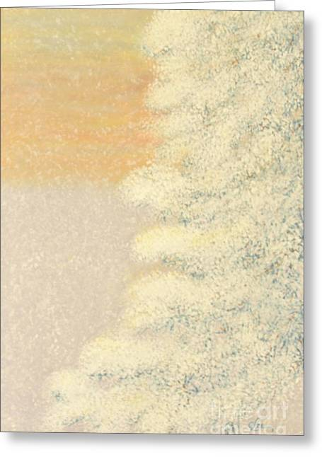 Snowstorm Mixed Media Greeting Cards - Sunset After the Storm Greeting Card by Cindy Lee Longhini