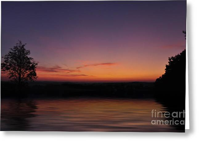 Sunset Greeting Card by Aged Pixel
