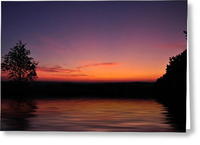 Backlit Greeting Cards - Sunset Greeting Card by Aged Pixel