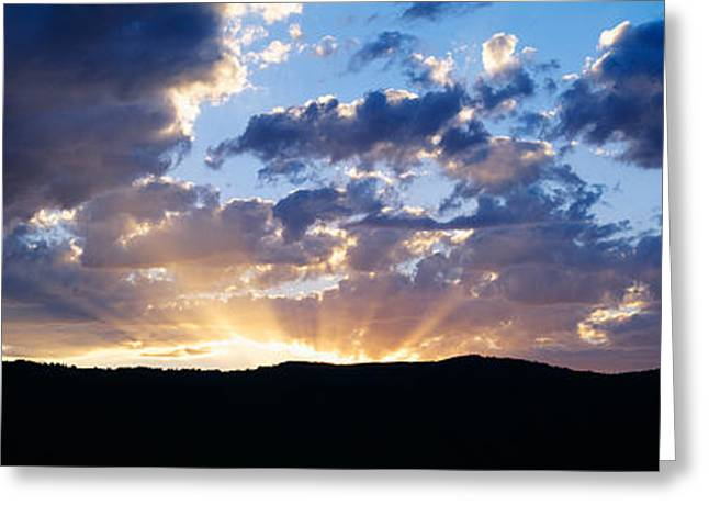 Crepuscular Rays Greeting Cards - Sunset Along Route 95, Idaho Greeting Card by Panoramic Images