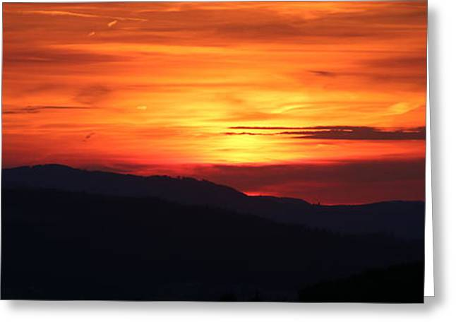 Abstract Beach Landscape Greeting Cards - Sunset Greeting Card by Amanda Mohler