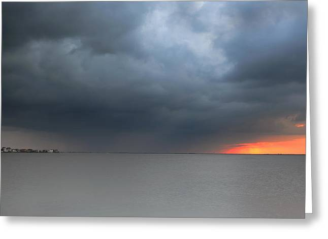 Sunset And Cloud Greeting Card by Thanh Nguyen