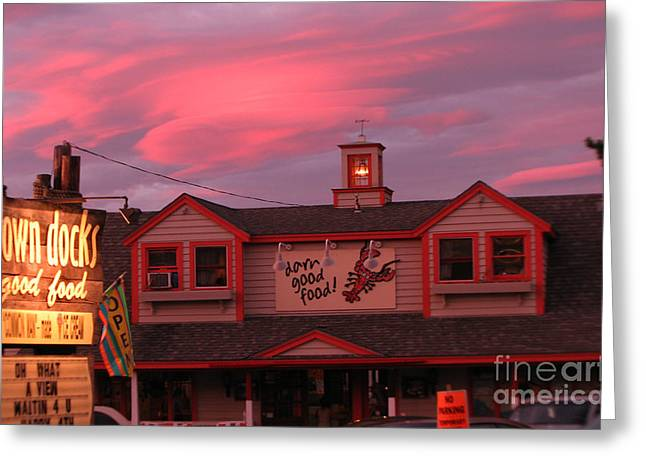 Michael Mooney Greeting Cards - Sunset and Good Food Greeting Card by Michael Mooney