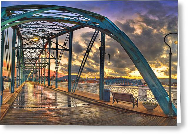 Tennessee River Greeting Cards - Sunset As I Walk Greeting Card by Steven Llorca