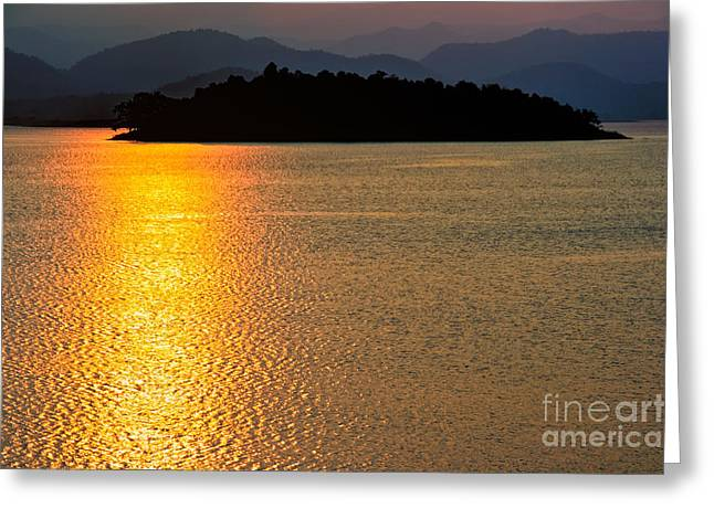 Asia Digital Greeting Cards - Sunset Asia  Greeting Card by Adrian Evans