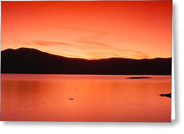 Sunset At Ashokan Reservoir, Catskill Greeting Card by Panoramic Images