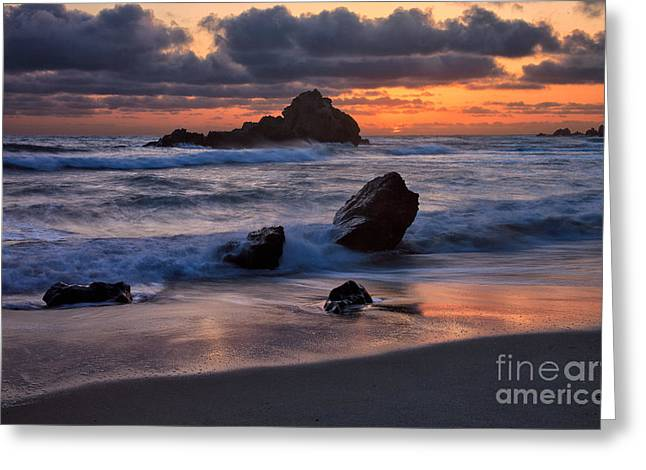 Pfeiffer Beach Greeting Cards - Sunset at Big Sur II Greeting Card by Stuart Gordon