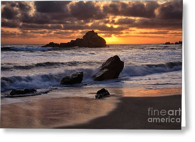 Pfeiffer Beach Greeting Cards - Sunset at Big Sur Greeting Card by Stuart Gordon