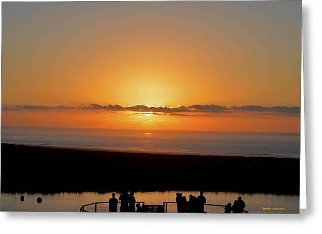 Vineyards Pyrography Greeting Cards - Sunset at Cape Point Vineyards Greeting Card by Brigid Jackson