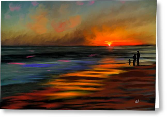 California Beach Art Greeting Cards - Sunset at Capo Beach in California Greeting Card by Angela A Stanton