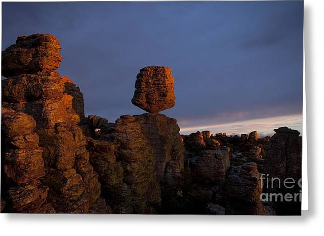 Surreal Landscape Greeting Cards - Sunset at Chiricahua Greeting Card by Keith Kapple