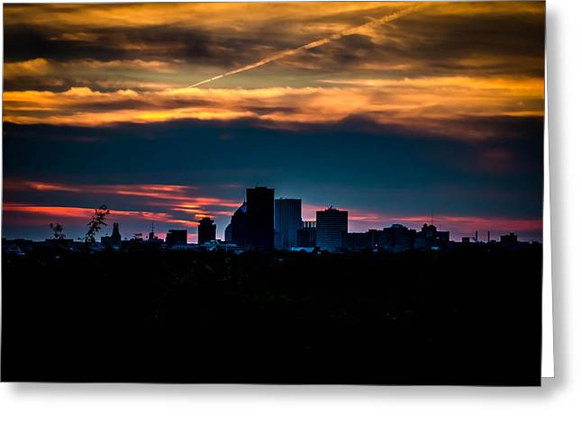 Cobbs Hill Greeting Cards - Sunset at Cobbs Hill Greeting Card by Sara Frank