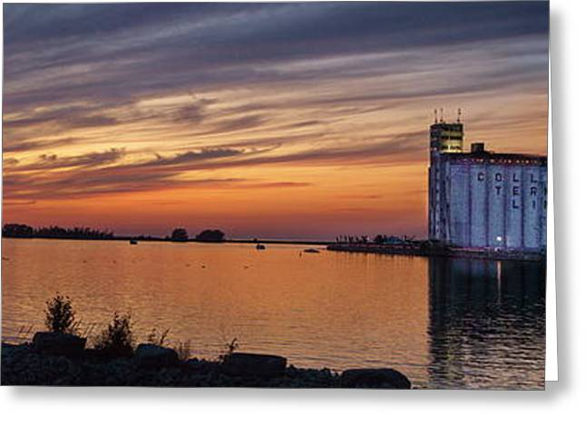 Collingwood Greeting Cards - Sunset at Collingwood Ontario Harbor  Greeting Card by Andrea Kollo