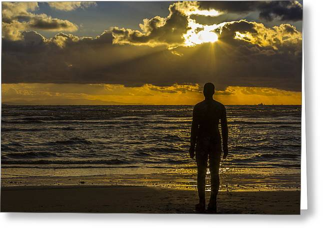 Ironman Greeting Cards - Sunset at Crosby Greeting Card by Paul Madden