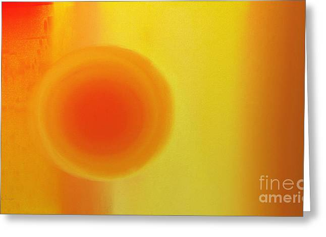 Orange And Brown Designs Greeting Cards - Sunset At Dusk Abstract Greeting Card by Andee Design