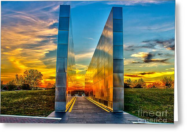 Wtc 11 Greeting Cards - Sunset at Empty Skies Greeting Card by Nick Zelinsky