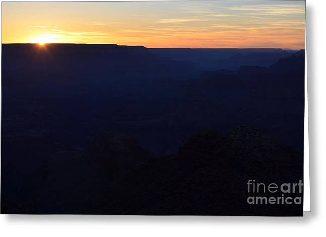 Beauty In Nature Greeting Cards - Sunset at Grand Canyon National Park Greeting Card by Shawn O