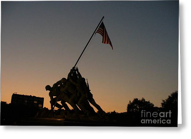 Sunset At Iwo Jima  Greeting Card by Lingfai Leung