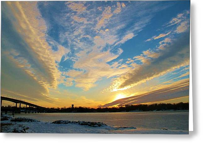 Amazing Pyrography Greeting Cards - Sunset At Jonas Park Annapolis Greeting Card by Valia Bradshaw