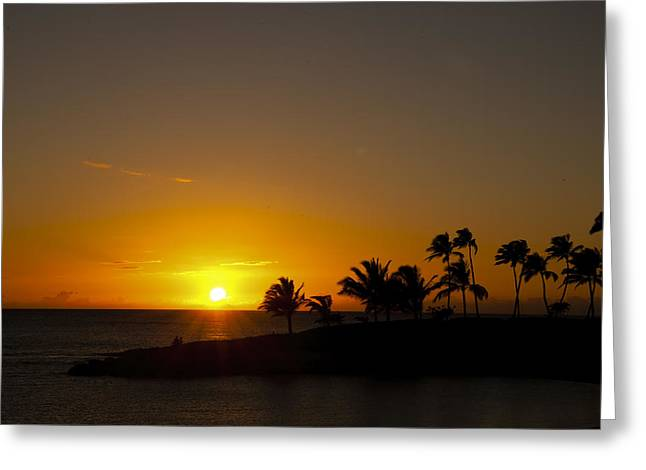 Ko Olina Lagoon Greeting Cards - Sunset at Ko Olina Greeting Card by Scott Terna