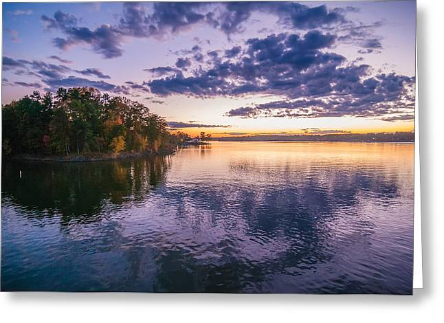 Lake Wylie Greeting Cards - Sunset At Lake Wylie Greeting Card by Alexandr Grichenko