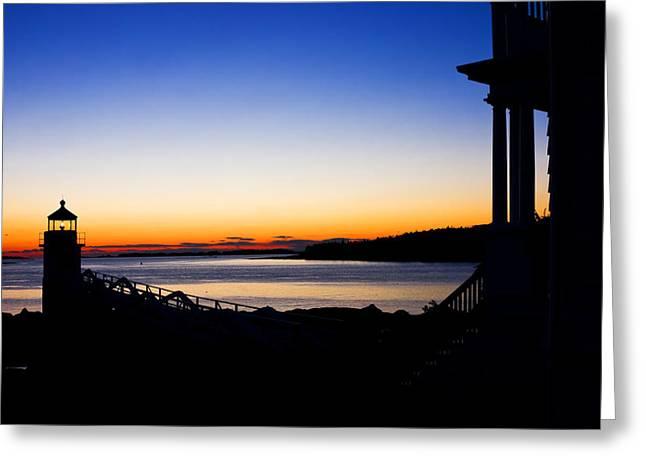 Maine Sunset Greeting Cards - Sunset At Marshall Point Lighthouse in Maine Greeting Card by Keith Webber Jr