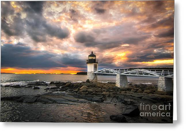 Mid-coast Maine Greeting Cards - Sunset at Marshall Point Greeting Card by Scott Thorp