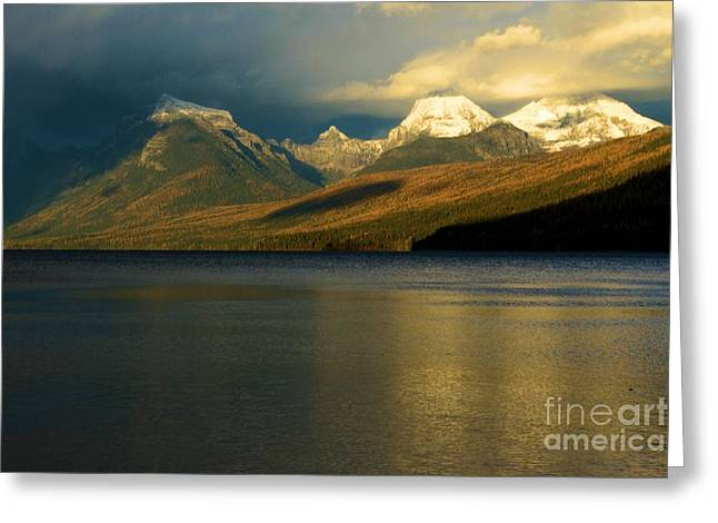West Glacier Greeting Cards - Sunset At McDonald Greeting Card by Adam Jewell