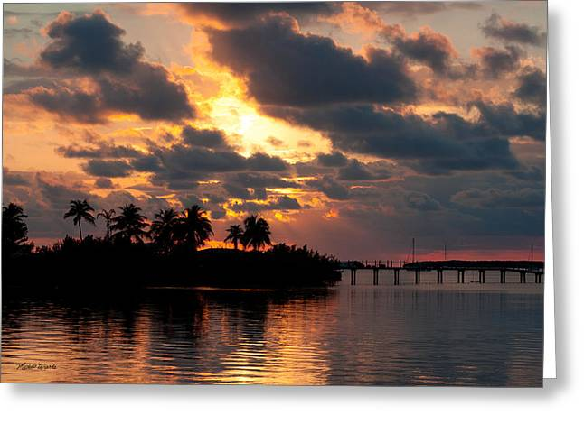 Michelle Greeting Cards - Sunset at Mitchells Keys Villas Greeting Card by Michelle Wiarda