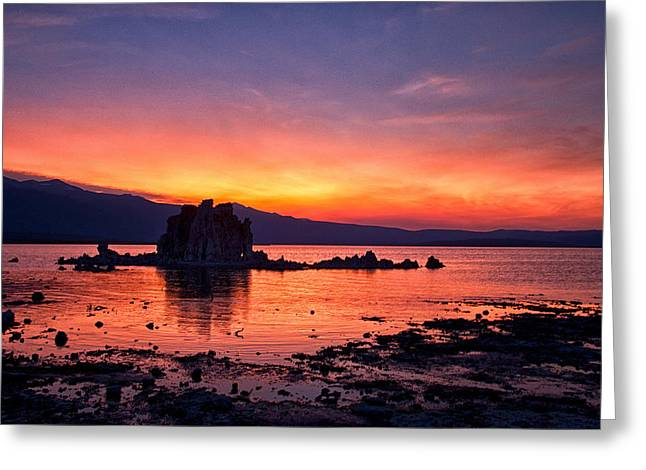 Tufa Greeting Cards - Sunset at Mono Lake Greeting Card by Cat Connor