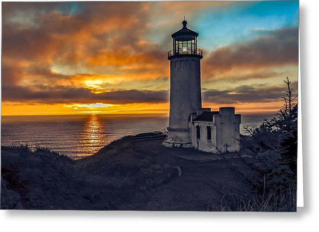 Haybale Greeting Cards - Sunset at North Head Greeting Card by Robert Bales