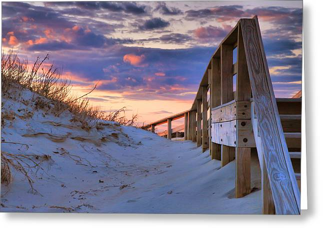 Print On Canvas Photographs Greeting Cards - Sunset At Ocracoke Greeting Card by Steven Ainsworth