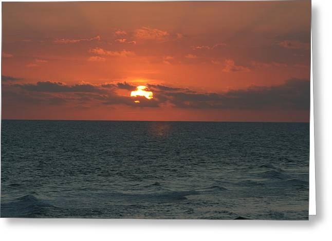 Panama City Beach Greeting Cards - Sunset at Panama City Beach Greeting Card by Gary Ayers