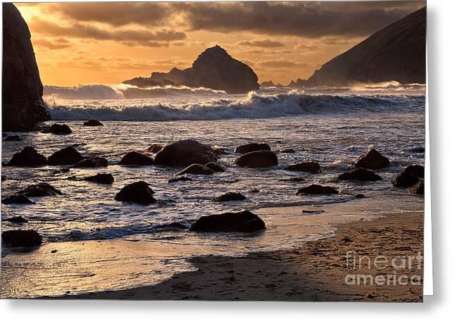 Pfeiffer Beach Greeting Cards - Sunset at Pfeiffer Beach Greeting Card by Stuart Gordon